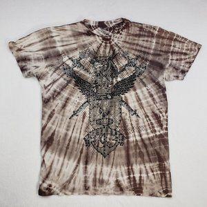 Big Star Mens XL Tye Die Studded Graphic T-Shirt